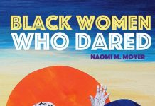 Illustration of black woman raising her hand